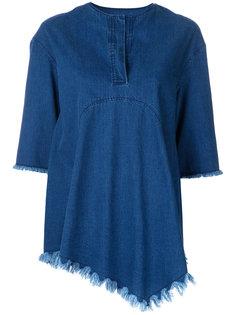 джинсовая блузка с бахромой Goen.J