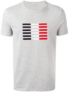 футболка с принтом в полоску Moncler