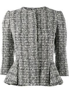 классический твидовый пиджак  Alexander McQueen