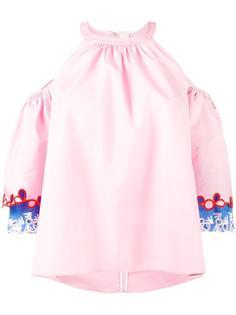 блузка с вышивкой на рукавах Peter Pilotto