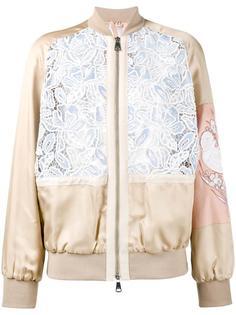 куртка-бомбер с вышивкой макраме Nº21