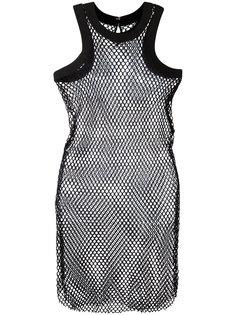 сетчатое платье-топ Sacai