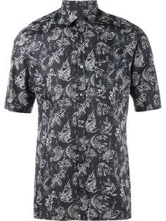 рубашка с принтом рыб Lanvin