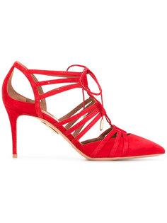 туфли с вырезными деталями Aquazzura