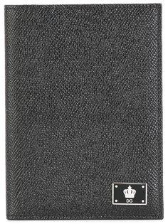 обложка для паспорта с бляшкой-логотипом Dolce & Gabbana