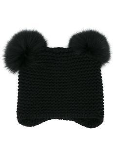 шапка с меховым помпоном Inverni