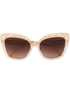 солнцезащитные очки в ажурной оправе Dolce & Gabbana Eyewear