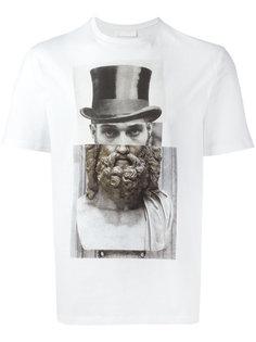 футболка с комбинированным принтом  Neil Barrett
