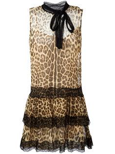 платье с леопардовым принтом  Red Valentino