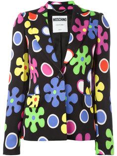 пиджак с цветочным узором Moschino