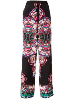 брюки с абстрактным принтом Roberto Cavalli