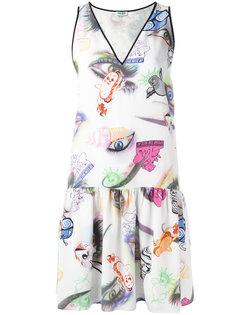 расклешенное платье шифт  Kenzo