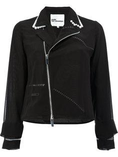 куртка с перламутровыми бусинами на воротнике Comme Des Garçons Noir Kei Ninomiya