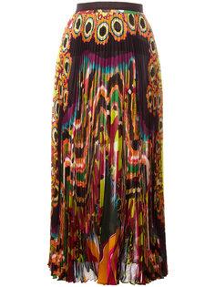 плиссированная юбка с абстрактным принтом Roberto Cavalli