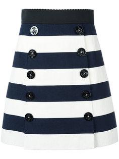 юбка А-образного силуэта в полоску Dolce & Gabbana