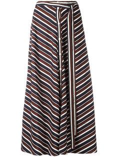 полосатая юбка миди Nina Ricci