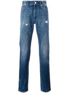 джинсы с эффектом складок Givenchy
