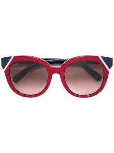"""солнцезащитные очки с оправой """"кошачий глаз"""" Salvatore Ferragamo Eyewear"""