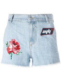 джинсовые шорты с нашивками Au Jour Le Jour