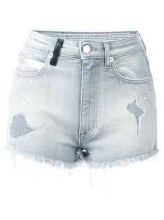 джинсовые шорты с рваными деталями Marcelo Burlon County Of Milan
