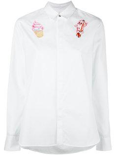 рубашка с вышивкой Kenzo