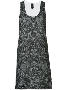 платье мини с накладным карманом на спине Vera Wang
