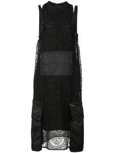 платье с накладными карманами Vera Wang