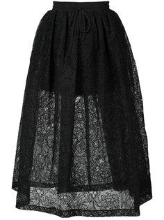 пышная юбка из кружева Vera Wang