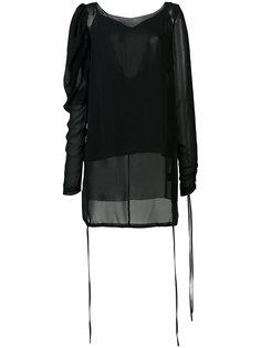 прозрачная блузка с пышными рукавами Vera Wang