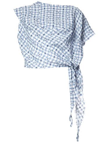 блузка в клетку с узлом Vivienne Westwood
