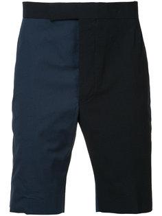 двухцветные шорты-бермуды Thom Browne