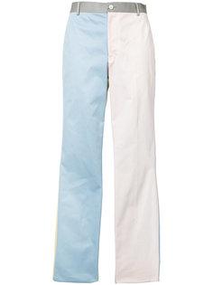 брюки дизайна колор-блок Thom Browne