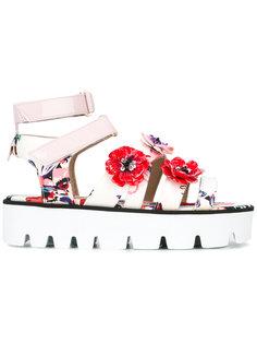 сандалии с цветочными элементами  MSGM