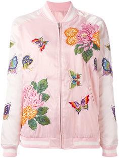 куртка-бомбер с цветочной вышивкой P.A.R.O.S.H.