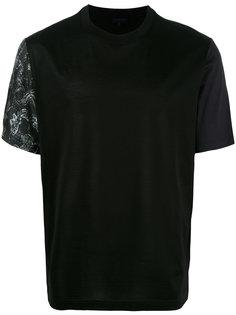 футболка с контрастными рукавами Lanvin