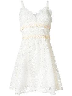 платье с плетеным цветочным узором Giamba