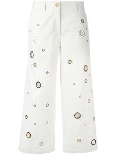 укороченные джинсы с люверсами Kenzo
