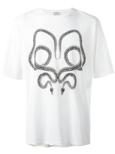футболка с принтом змеи Saint Laurent