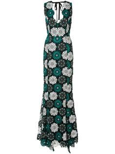 вечернее платье April с цветочной вышивкой Zac Zac Posen