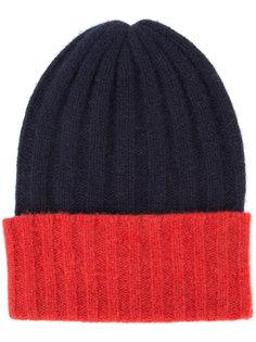 кашемировая шапка-бини дизайна колор-блок The Elder Statesman