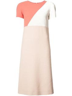 платье миди дизайна колор-блок Agnona