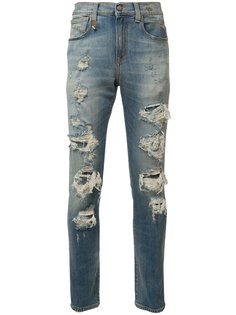 рваные джинсы кроя скинни R13
