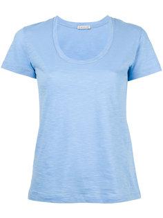 футболка с вырезом-ковш Moncler