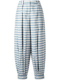 полосатые брюки Jil Sander Navy