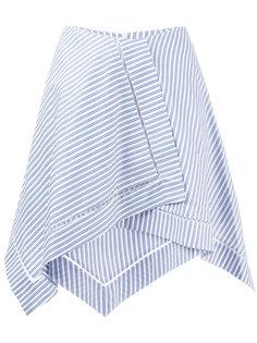 полосатая асимметричная юбка  JW Anderson