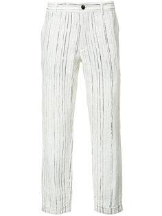 брюки в тонкую полоску Ann Demeulemeester Grise