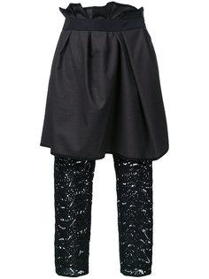 брюки с драпированной панелью Kolor