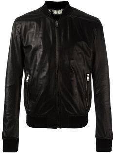 куртка бомбер с перфорацией Dolce & Gabbana