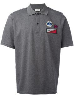 рубашка-поло с нашивкой Saint Laurent