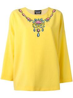 блузка с принтом колье Boutique Moschino